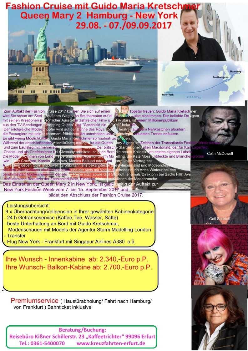 Fashion Cruise mit Guido Kretschmer